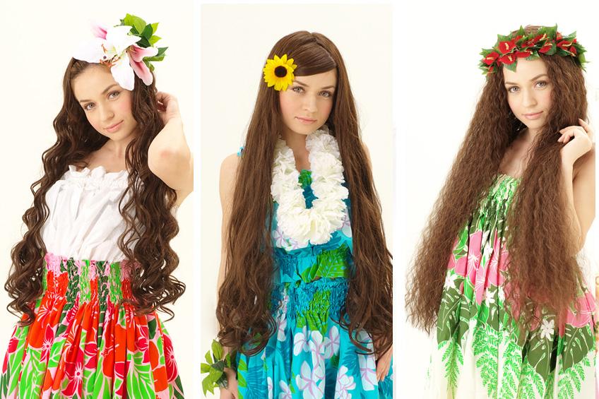 前髪をおろしたヘアスタイルの場合はハーフのフラウィッグを使おう