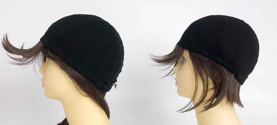 帽子ウィッグリラックスと帽子ウィッグフィットのインナー比較